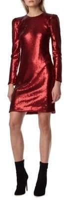 ML Monique Lhuillier Sequined Mini Dress