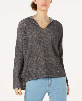 Eileen Fisher Organic Linen Cotton Hooded Sweater