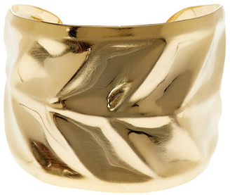 Argento Vivo 18K Gold Plated Wide Leaf Cuff $100 thestylecure.com