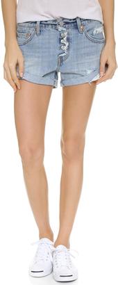 Levi's Custom Roll Hem Shorts $68 thestylecure.com