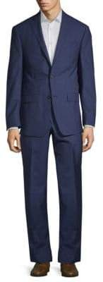 Michael Kors Slim-Fit Windowpane Wool Suit