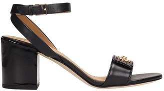 Tory Burch Black Leather Kira Sandals