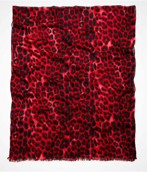 Express Leopard Oblong Scarf