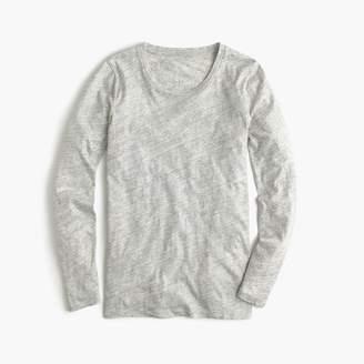 J.Crew Vintage cotton long-sleeve T-shirt in metallic