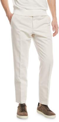Ermenegildo Zegna Chino Flat-Front Pants