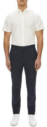 Theory Zaine Urban Stretch-Linen Straight-Leg Pants