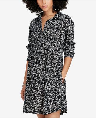 Denim & Supply Ralph Lauren Floral-Print Shirtdress $125 thestylecure.com