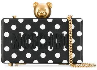 Moschino polka dot clutch