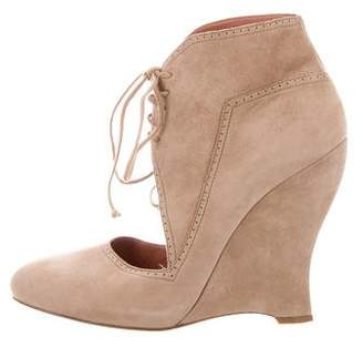 Alaia Pointed-Toe Cut Out Ankle Boots