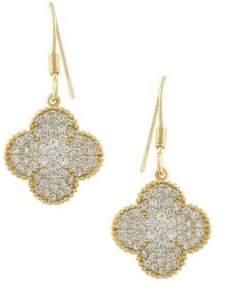 Saks Fifth Avenue JanKuo Crystal Clover Drop Earrings