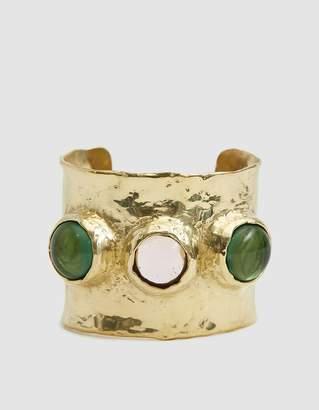 Mondo Mondo Jupiter Hammered Brass Cuff