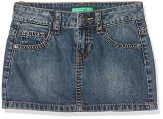 Benetton Girl's Skirt, Blue (Blue 901), (Manufacturer size: 2Y)