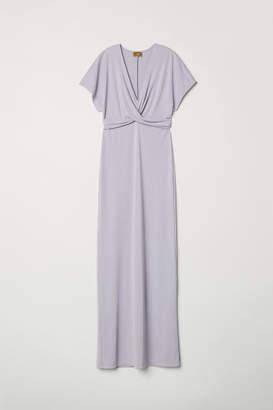 H&M Long Draped Dress - Purple