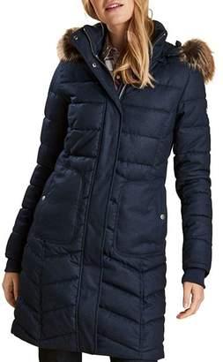 Barbour Faux Fur Trim Quilted Jacket