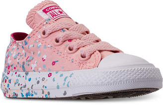 Converse Toddler Girls' Chuck Taylor All Star Ox Confetti Casual Sneakers from Finish Line