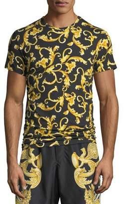 Versace Men's Baroque-Print T-Shirt