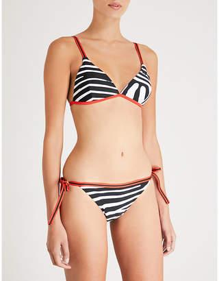 P.E Nation Racing Time zebra-print bikini