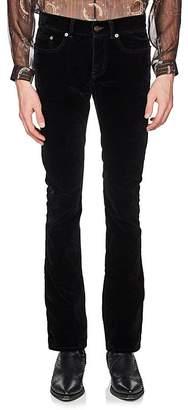 Saint Laurent Men's Cotton-Blend Velvet Flared Jeans