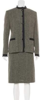 Max Mara Wool-Blend Skirt Suit