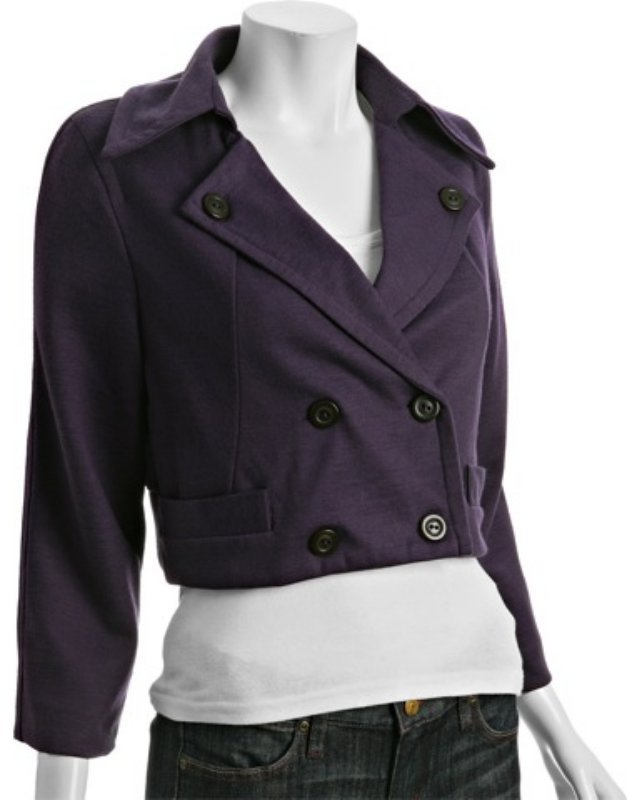 Marc by Marc Jacobs deep plum wool blend cropped jacket