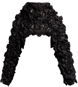 Noir Kei Ninomiya 6 Moncler Pearl High Neck Bomber Jacket - Womens - Black