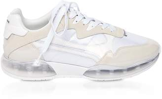 Alexander Wang White Suede&Mesh Stadium Sneakers