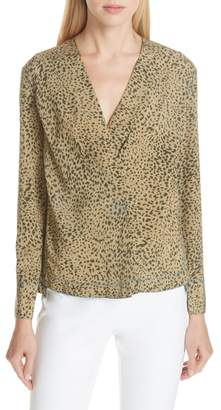 Rag & Bone Shields Leopard Print Silk Top
