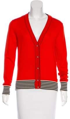 Bouchra Jarrar Wool Striped Cardigan