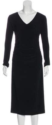 Norma Kamali Long Sleeve Ruched Dress