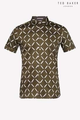 Next Mens Ted Baker Luvbox Printed Short Sleeve Shirt
