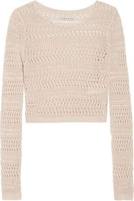 Alice + Olivia Alice+olivia Irving Open-Knit Linen Sweater