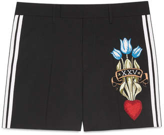 Wool short with embroidery $950 thestylecure.com