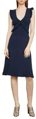 BCBGMAXAZRIA Ruffle-Trimmed A-Line Dress