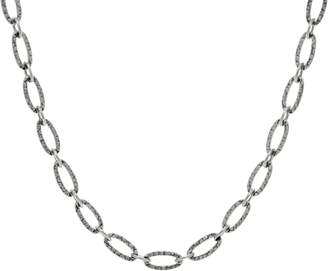 """American West Sterling Silver Hammered 18"""" Oval Link Necklace"""