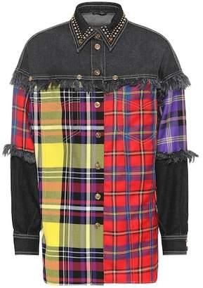 Versace Oversized denim shirt