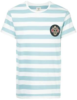 Kent & Curwen patch striped T-shirt