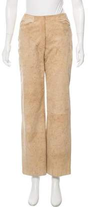 Chanel High-Rise Suede Pants