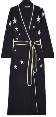 Chinti and Parker Star Cashmere Robe - Navy c16ae55ab