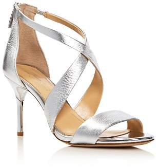 Vince Camuto Imagine Pascal Metallic Crisscross High-Heel Sandals