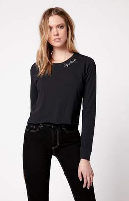 Kendall + Kylie Cropped Long Sleeve T-Shirt