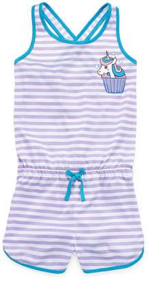 JELLIFISH KIDS Jelli Fish Kids Jellifish Romper Sleeveless One Piece Pajama-Big Kid Girls