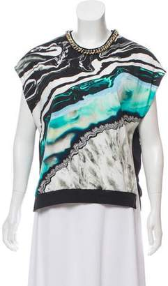 3.1 Phillip Lim Embellished Short Sleeve Top w/ Tags