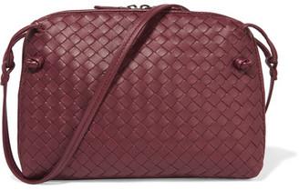 Bottega Veneta - Messenger Small Intrecciato Leather Shoulder Bag - Claret $1,580 thestylecure.com
