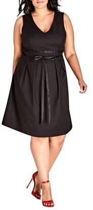 City Chic Sleeveless A-Line Dress