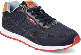 Levi's Navy Tessa Denim Low-Top Sneakers