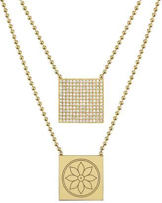 ARK Fine Jewelry Lunar Goddess Scapular Beaded Necklace