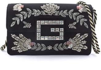 Gucci Black Moire Fabric Shoulder Bag