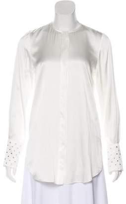 Thomas Wylde Embellished Silk Top