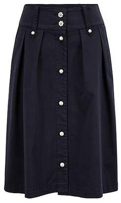HUGO BOSS Utility-style midi skirt with decorative buttons