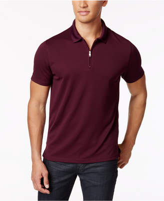 Alfani Men's Ottoman Zip Polo, Only at Macy's $45 thestylecure.com